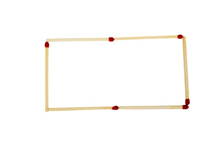 rectangle: Close-up of a rectangle made from matchsticks