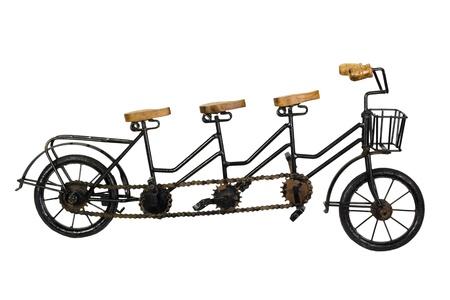 Drie zits tandem fiets