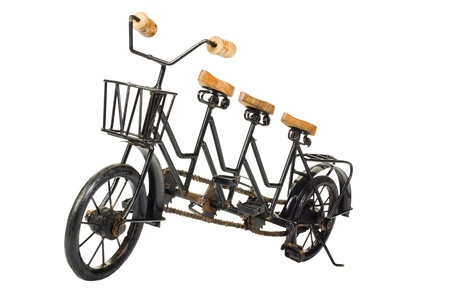 seater: Three seater tandem bicycle