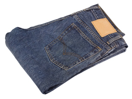 Close-up of a folded jeans photo