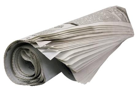 periodicos: Primer plano de un peri�dico enrollado