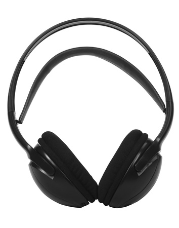 transducer: Close-up of headphones