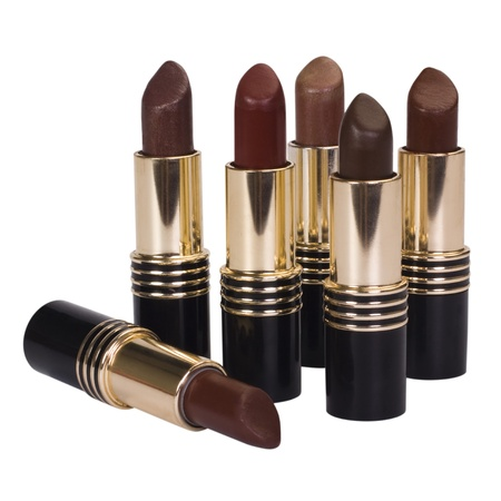 self conceit: Close-up of assorted lipsticks Stock Photo