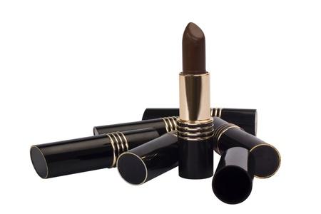 self conceit: Close-up of lipsticks Stock Photo