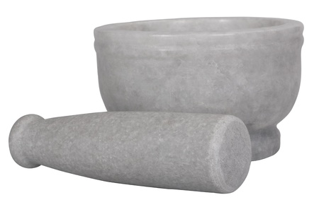 things that go together: Close-up of a mortar and pestle Stock Photo