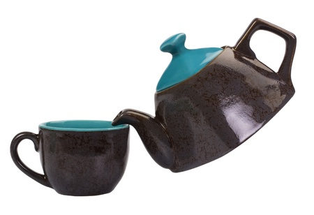Close-up of a tea kettle with a tea cup Stock Photo - 10253053
