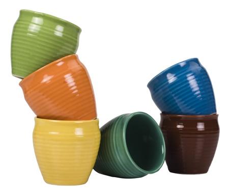 Stack of ceramic pots