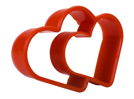 cutter: Close-up of a heart shaped cookie cutter