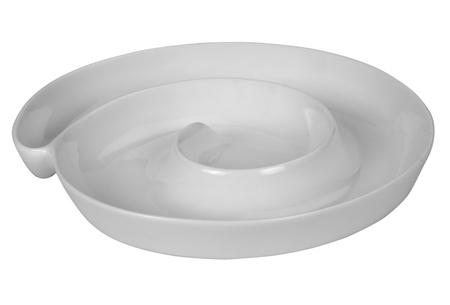 Primer plano de una bandeja blanca Foto de archivo - 10234972