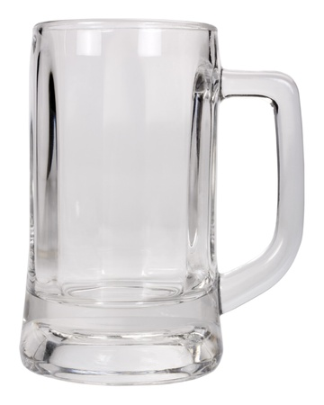 Close-up of an empty beer mug