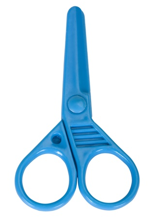 Close-up of plastic scissors photo