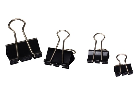 Close-up of binder clips Stock Photo - 10234857