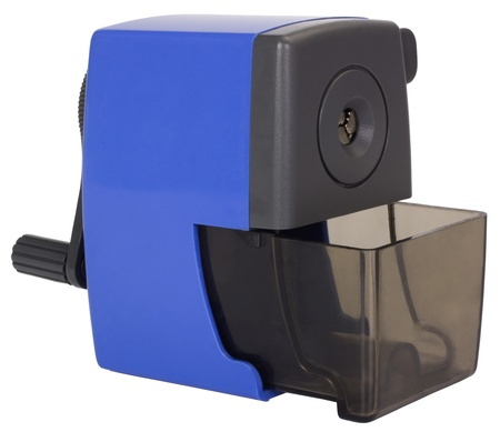 hand crank: Close-up of a pencil sharpener Stock Photo