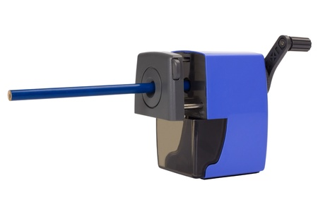 things that go together: Close-up of a pencil sharpener Stock Photo