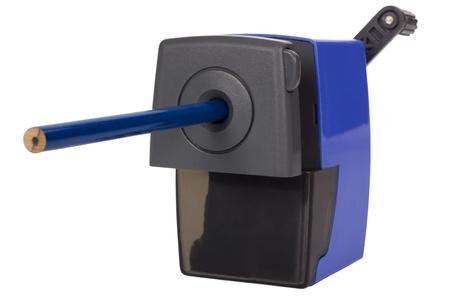 sharpener: Pencil inside a pencil sharpener Stock Photo