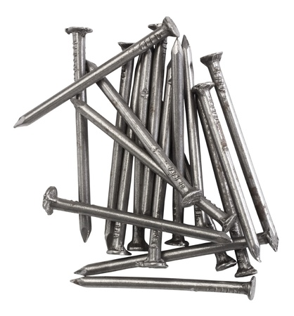 resourceful: Close-up of a heap of nails