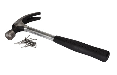 resourceful: Claw hammer with nails