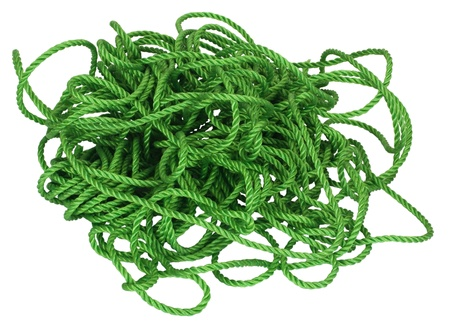 Close-up of tangled plastic rope