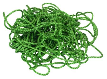 groviglio: Close-up di tangled corda di plastica