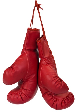 safety gloves: Close-up of a pair of boxing gloves Stock Photo