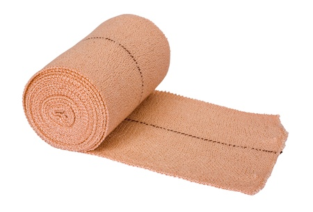 Close-up of a rolled-up bandage Stock Photo