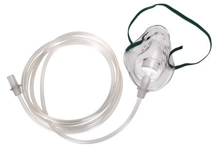 Close-up of an oxygen mask