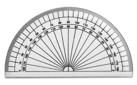 Close-up of a protractor Banco de Imagens