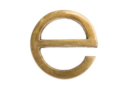 letter: Close-up of letter e