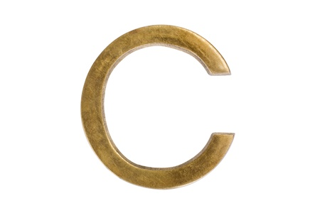 letter c: Close-up of letter c Stock Photo