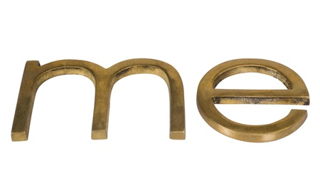 Close-up of a word 'me' Stock Photo - 10241627