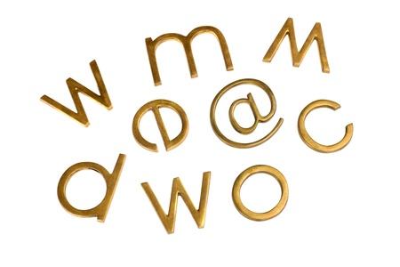Internet symbols with assorted alphabets Banco de Imagens