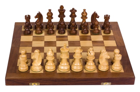 chessboard: Chess pieces on a chessboard