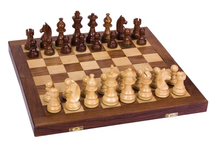 things that go together: Chess pieces on a chessboard