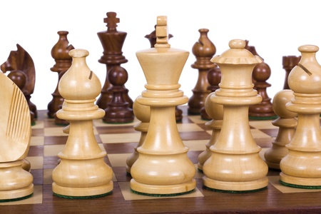 Chess pieces on a chessboard photo