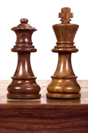 Close-up d'un roi et une reine des pièces d'échecs Banque d'images - 10237576