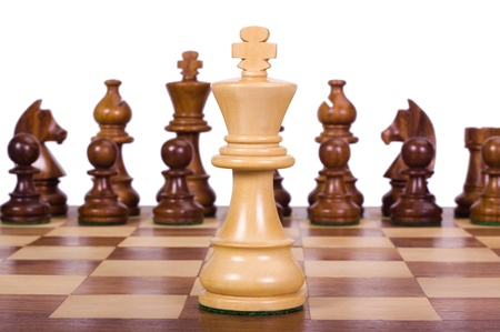 chess board: Chess pieces on a chessboard