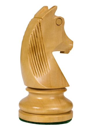 Close-up of a knight chess piece photo
