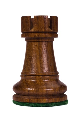 Close-up of a rook chess piece photo
