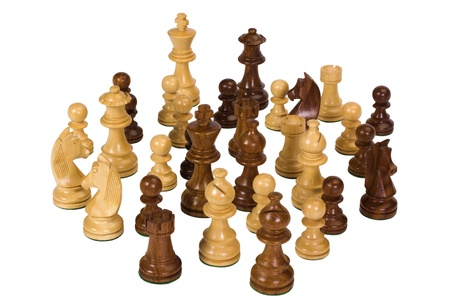 Close-up of chess pieces photo