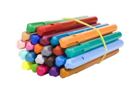 Close-up of a bundle of felt tip pens photo