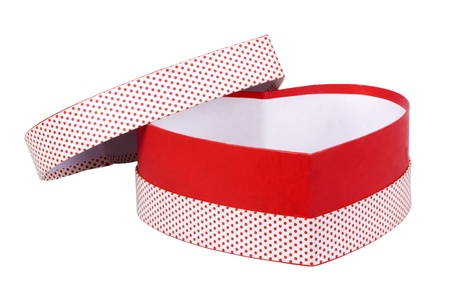 heart shaped box: Close-up of an open heart shaped gift box