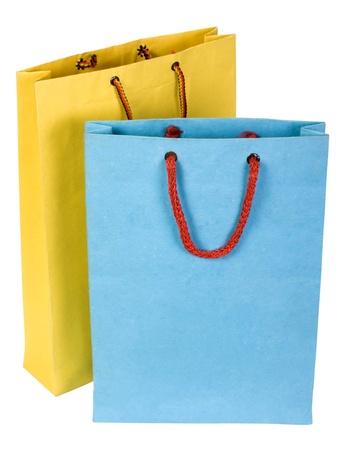 Close-up of two shopping bags Foto de archivo