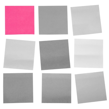 mnemonic: Adhesive notes on a white background Stock Photo