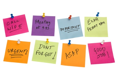 Text written on adhesive notes Stock Photo - 10253008