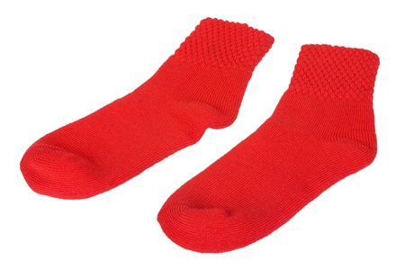 things that go together: Close-up of a pair of red socks