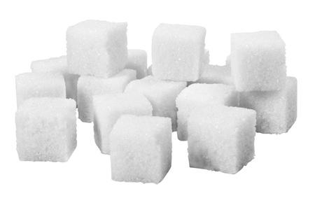 Close-up of sugar cubes photo