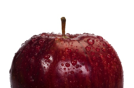 Close-up of water droplets on an apple Stock Photo - 10239695