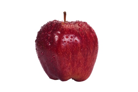 Close-up of water droplets on an apple