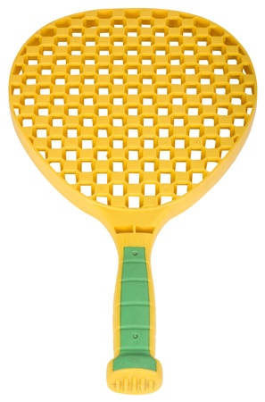 tennis racket: Close-up of a toy tennis racket Stock Photo