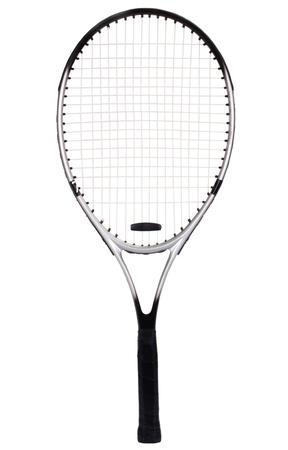 tennis racket: Close-up of a tennis racket Stock Photo